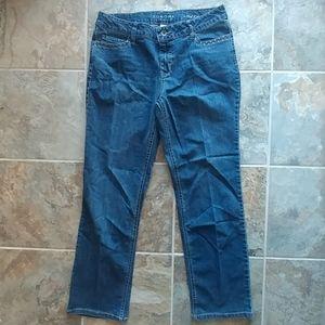 Sonoma midrise straight leg jeans, size 12